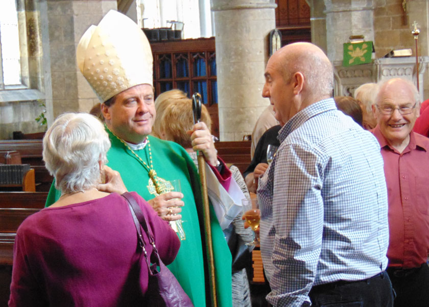 A Visit By The Bishop